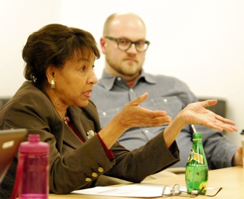 Eleanore Adenekan, Jeremy Peters, Ann Arbor planning commission, The Ann Arbor Chronicle