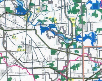 Bioreserve map, Huron River Watershed Council, Ann Arbor greenbelt advisory committee, The Ann Arbor Chronicle
