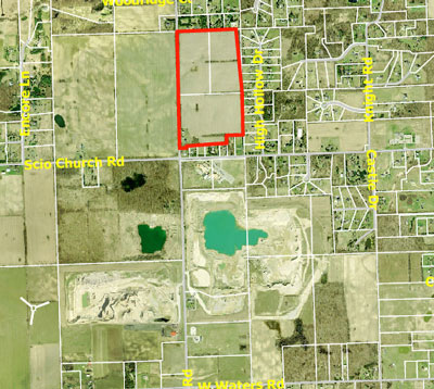 Property owned by Maria E. White in Scio Township. White applied to the Scio Township Land Preservation program and the city of Ann Arbor is partnering with the township on the issue.