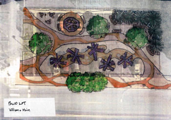 Sketch of possible park installation at the Palio Lot.