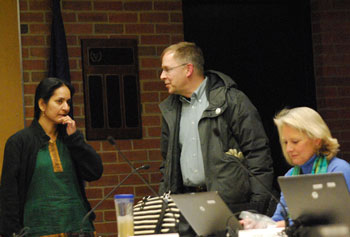 From left: Sumi Kailasapathy (Ward 1), Will Hathaway and Sally Petersen (Ward 2).