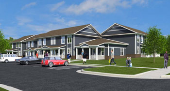 Rendering of Lower Platt Ann Arbor Housing Commission property after renovation.