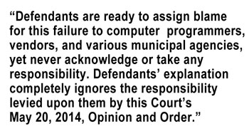 Excerpt from judge Lawrence Zatkoff's show cause order, requiring the city of Ann Arbor to demonstrate that it is not in contempt of the court order that disallowed the enforcement of eligibility requirements for city officials against Bob Dascola.