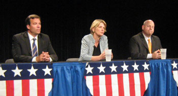 Candidates for the circuit court judgeship from left: Michael Woodyard, Veronique Liem, Pat Conlin.