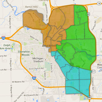 City council races were actively contested in only three of Ann Arbor's five wards in the Democratic primary.