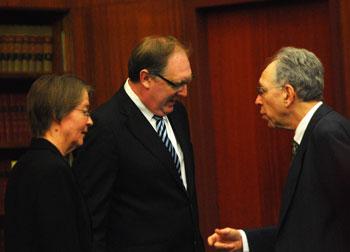 Abigail Elias, Stephen Postema, Irv Mermelstein.