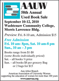 AAUW Book Sale Aug10
