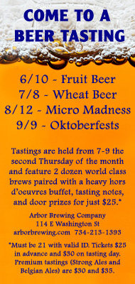 ArborBrewing Tastings May10